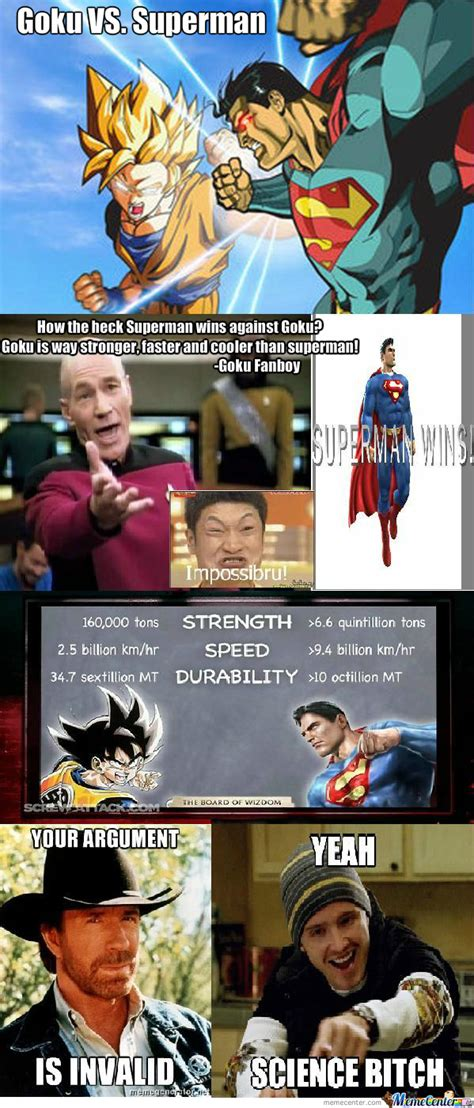 Super Man Meme - superman vs goku meme www imgkid com the image kid has it