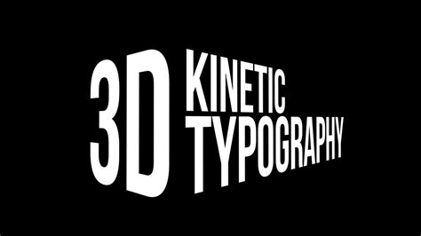 kinetic typography tutorial after effects cs6 videohive 3d kinetic typography titles adobe after