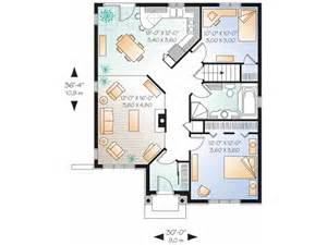 Single Floor 3 Bhk House Plans Eplans Bungalow House Plan Two Bedroom Bungalow 1022