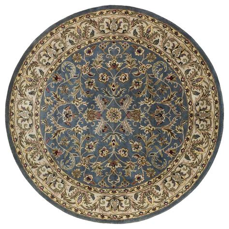 Rounds Rugs Kaleen Mystic William Blue 7 Ft 9 In X 7 Ft 9 In Area Rug 6001 17 7 9 Rnd The Home Depot