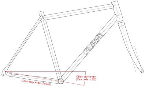 bike frame template chain stay angle www bikecad ca