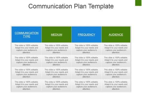 Communication Plan Ppt Template Gallery Template Design Ideas Communications Portfolio Template