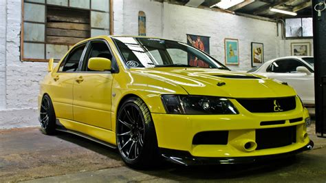 Yellow Mitsubishi Lancer Evolution Wallpapers And Images