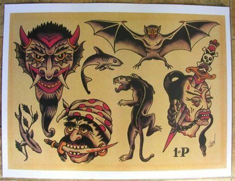 tattoo flash sheets pdf sailor jerry collins tattoo flash sheet devil bat knife