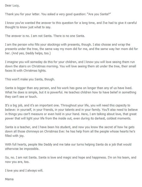 Santa Explanation Letter 4 heartwarming letters to explain santa to your diy