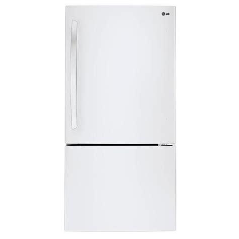 refrigerator with bottom freezer swing door lg 24 cu ft white bottom freezer refrigerator with swing