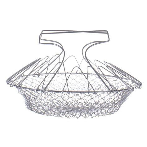 Chef Basket Kitchen Tools stainless steel foldable steam rinse strain chef basket colander magic basket strainer kitchen