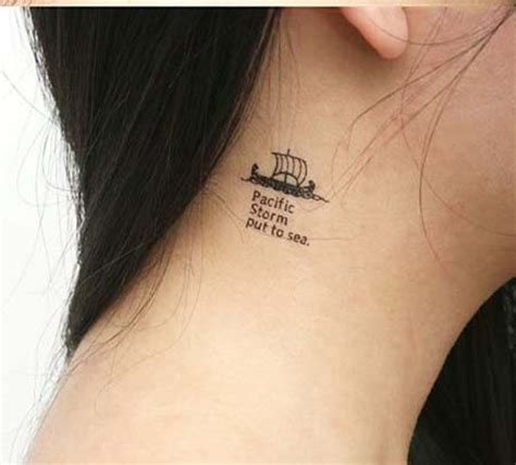 cute small neck tattoos simple ship designs www imgkid the image