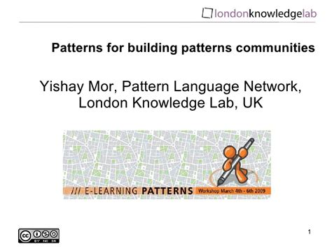 pattern language building patterns for building patterns communities