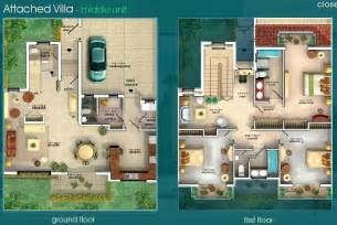 villa plans gallery villas floor plans dubai sports city attached