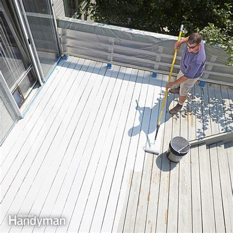 Plastic Coating For Wood Decks by Restore A Deck The Family Handyman