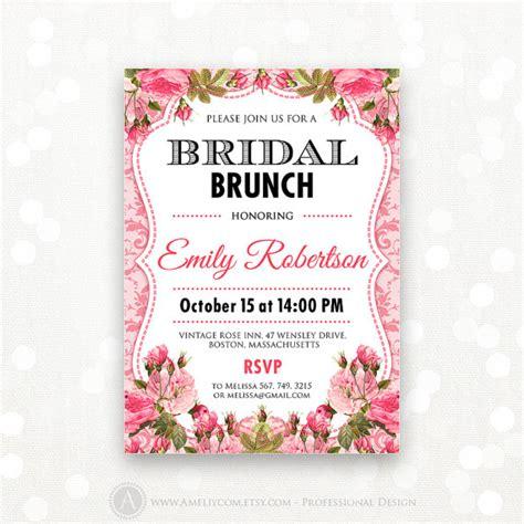 free printable bridal shower brunch invitations printable bridal brunch invitation bridal shower bridal tea