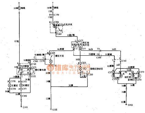 beijing light road vehicle fog light headl wiring circuit diagram automotive