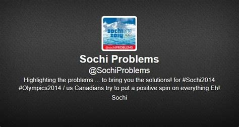 the person quot sochi problems quot account is a college student awful announcing