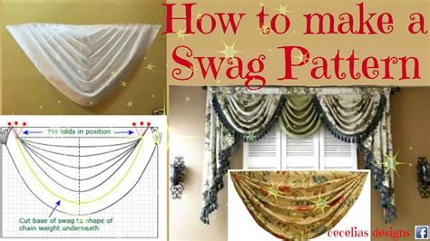 how to make swag curtains pattern how to make a swag pattern youtube