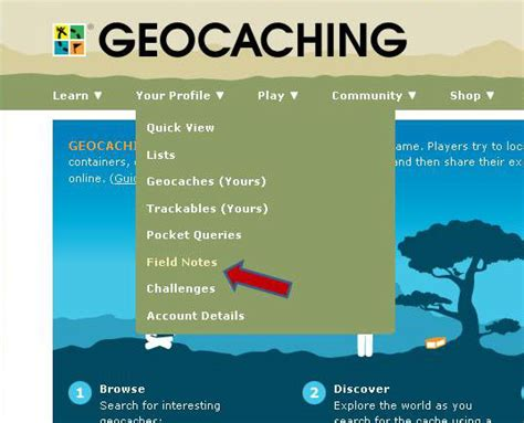 profile geocaching editing geocaching field notes using excel