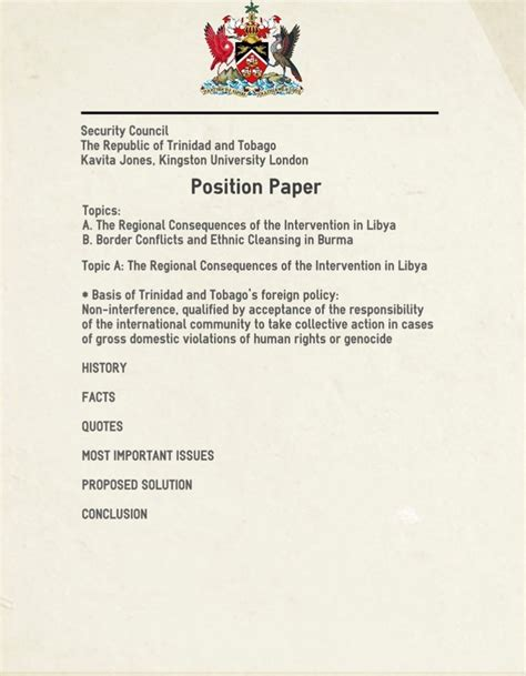 How To Make A Position Paper For Mun - writing a position paper munki