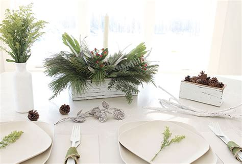 fresh christmas centerpieces how i easy greenery centerpieces julep