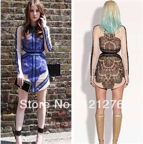 Black Sling Sml Dress 42610 wholesale three floor veneer stitching lace sleeved dress perspective gauze dress