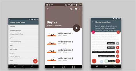 tutorial material design android floating action buttons awesome material design android