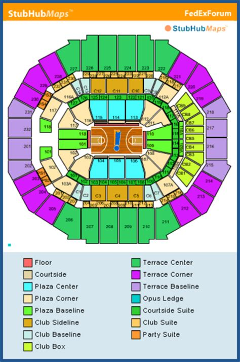 Fedexforum Box Office Hours by Fedexforum Seating Chart Pictures Directions And