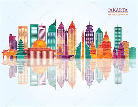 indonesia detailed skyline vector illustration stock jakarta detailed skyline stock vector