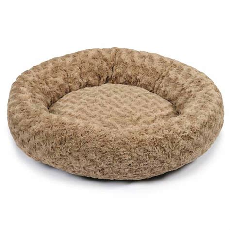plush dog beds slumber pet swirl plush donut dog bed oatmeal at baxterboo