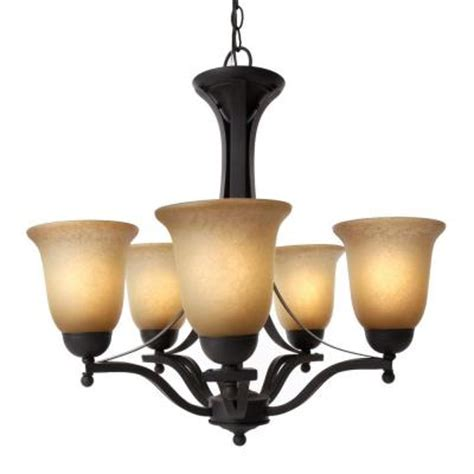 Dining Room Chandeliers Home Depot Commercial Electric 5 Light Rustic Iron Chandelier Ess8115 3 The Home Depot