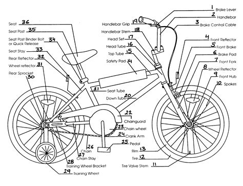bicycle parts diagram sears bike parts model 130452040 sears partsdirect