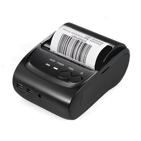 Printer Bluetooth Pos 58 Mm Zjiang 5802 10 Roll Thermal Paper pos 5802dd mini portable usb 58mm bluetooth thermal