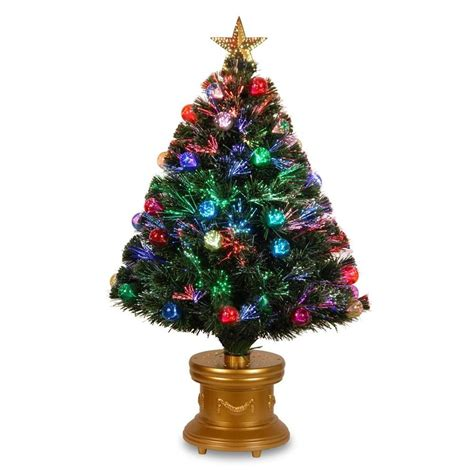 fiber optic artificial christmas trees lowes national tree company 36 in pre lit fiber optic fireworks artificial tree with