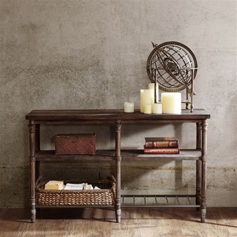 renate sofa table  coffee brown  rack
