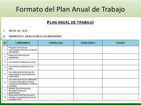 formato del plan anual de actividades 2012 picture plan anual de trabajo 2014 compromisos de gesti 243 n escolar