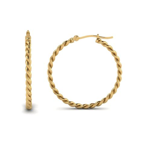 Sterling Direct Background Check Reviews Rope Hoop Earring For In 14k Yellow Gold Fascinating Diamonds