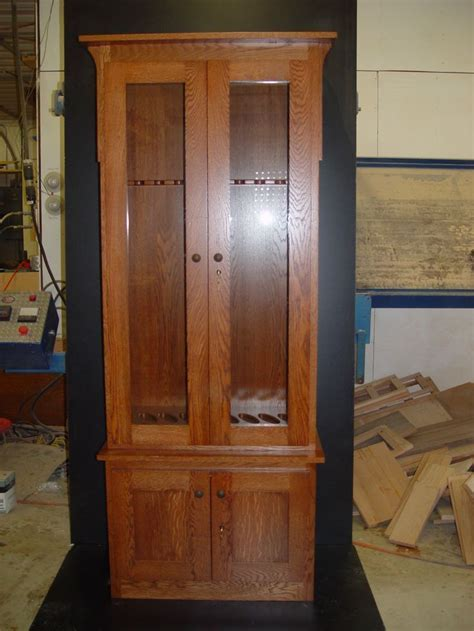 Oak Gun Cabinet Plans Free   WoodWorking Projects & Plans