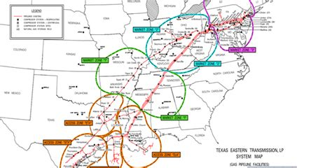 texas eastern transmission map so you think you want to move gas on tetco get the point