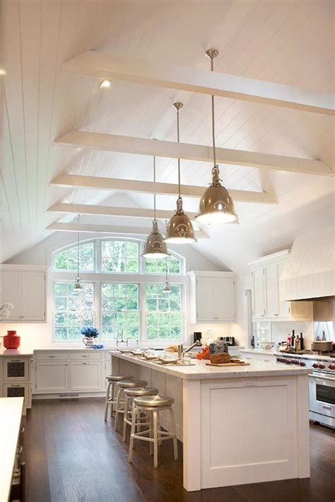Cathedral Ceiling Kitchen Lighting Ideas by 25 Best Ideas About Kitchen Ceilings On Pinterest