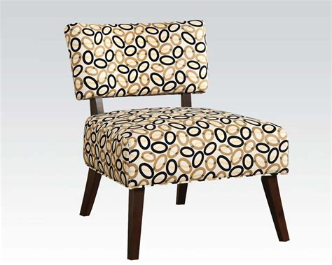 Fabric Accent Chair Contemporary Accent Chair In Fabric By Acme Furniture Ac59073