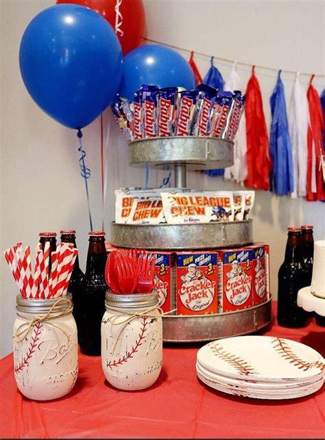 baseball themed birthday party painted mason jar set baseball themed party by