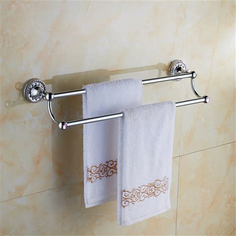 bathroom towel bars and accessories bathroom accessories chrome brass 60cm double towel bars bathroom towel rack wall