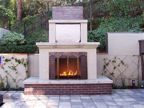outdoor fireplace with copper mantel designers