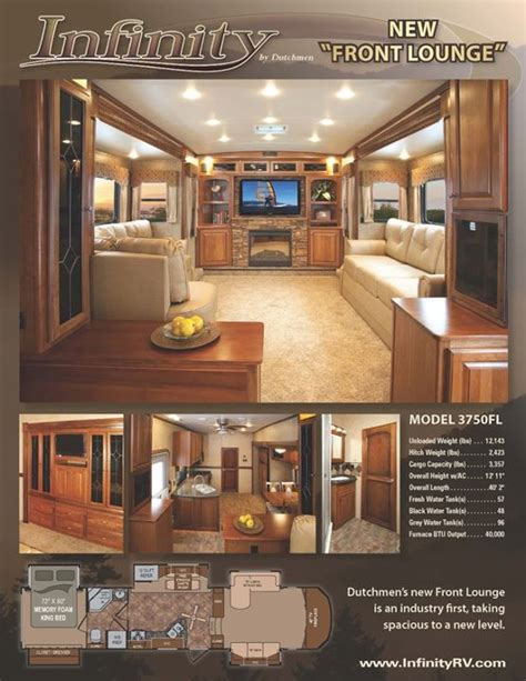 front living room 5th wheel floor plans dutchmen rv infinity 3750fl general rv center