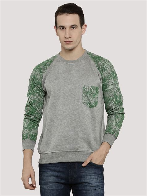 Sleeve Printed Sweatshirt buy blotch printed sleeve raglan sweatshirt for