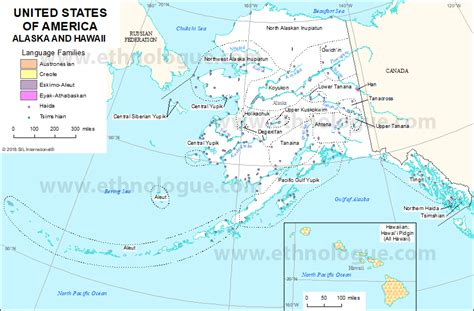 united states of america map with alaska united states of america alaska and hawaii ethnologue