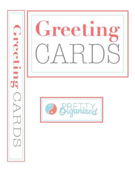 printable greeting card dividers organized greeting card binder how to organize