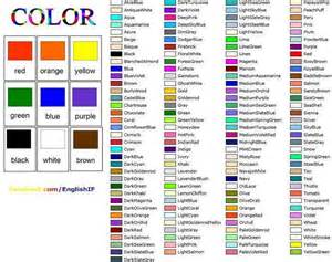 colors list most detailed color list vocabulary study