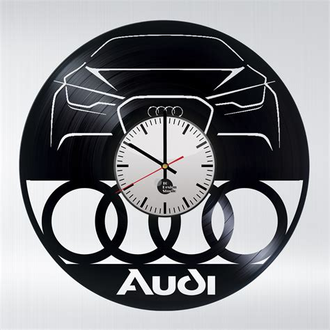 clock made of clocks audi cars handmade vinyl record wall clock vinyl clocks
