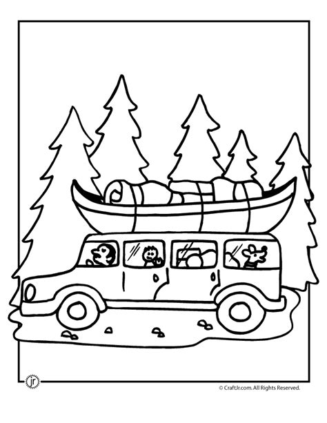 preschool vacation coloring pages road trip c coloring page woo jr kids activities