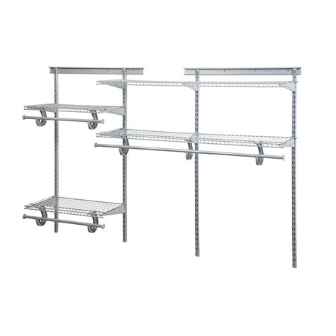 Wire Closet Shelving Parts by Shop Closetmaid 6 Ft Adjustable Mount Wire Shelving Kit At