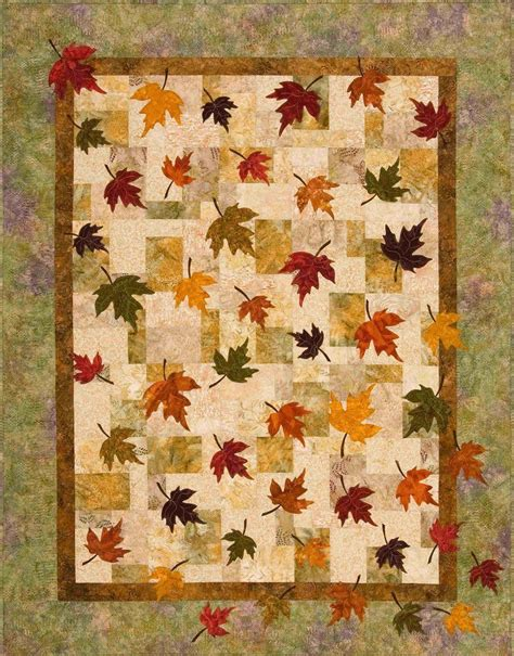 quilt pattern autumn leaves falling leaves quilt pattern the virginia quilter